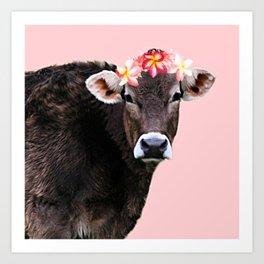 Aloha Cow Art Print
