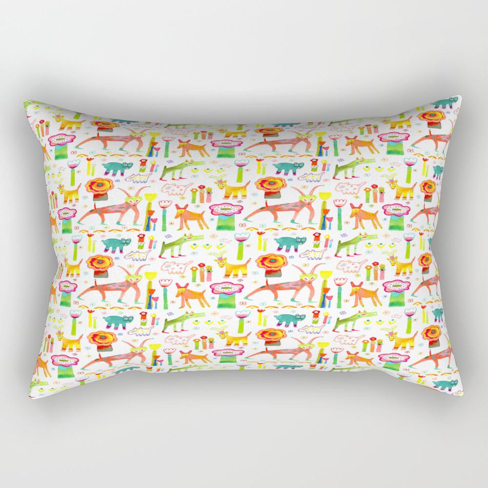 Animal Garden Rectangular Pillow RPW8454177