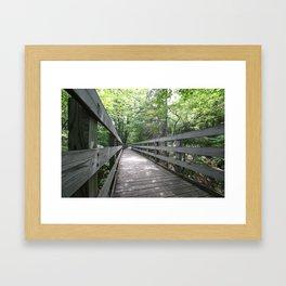 Boardwalk to Lighthouse Framed Art Print