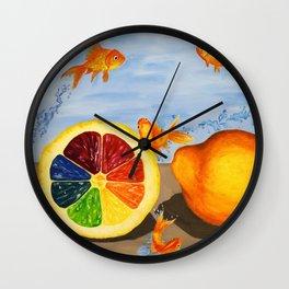 Fish R Friends, Not Food Wall Clock