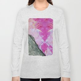 Brush Strokes / Oil Pink Long Sleeve T-shirt
