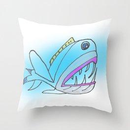 Fish Portrait Throw Pillow