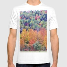 Paint By Nature - Fall Foliage Mens Fitted Tee White MEDIUM