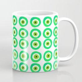 Evil Eye Amulet Talisman in Green Coffee Mug