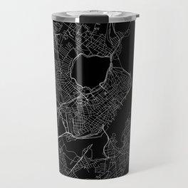 Portland Maine Black Map Travel Mug
