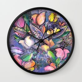Bouquet ReLeaf Wall Clock
