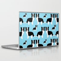 border collie Laptop & iPad Skins featuring Border Collie  by Heroinax