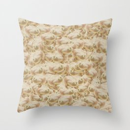 Wednesday Frog Pattern Throw Pillow