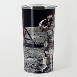 Salute on the Moon Travel Mug