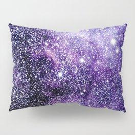 Galaxy Stars Violet Blue Pillow Sham