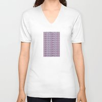 buildings V-neck T-shirts featuring buildings by Mariana Beldi