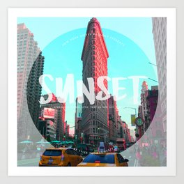 Flat Iron Sunset Art Print