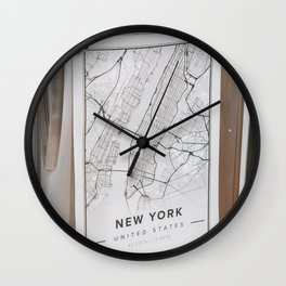 happy day in New York City. Wall Clock