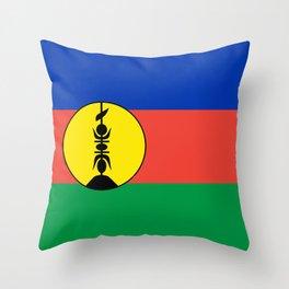 New Caledonia flag Throw Pillow