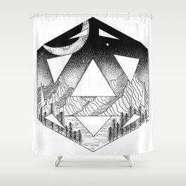 geoscape Shower Curtain