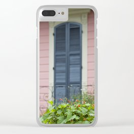 New Orleans Pink Front Porch Clear iPhone Case