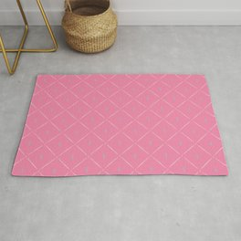 Flute Trellis Fabric Pattern with Treble Clefs - Rose Pink Rug