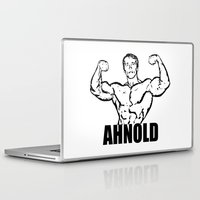 arnold Laptop & iPad Skins featuring Arnold Schwarzenegger  |  AHNOLD by Silvio Ledbetter