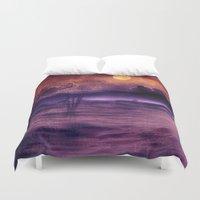 trip Duvet Covers featuring purple trip by Viviana Gonzalez