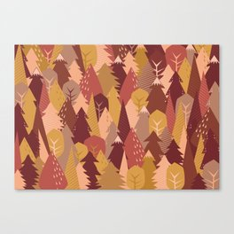warm autumn woods Canvas Print