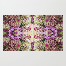 Dark floral Rug