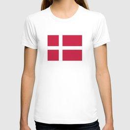 The flag of danmark T-shirt