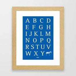 Z/Zebra Framed Art Print