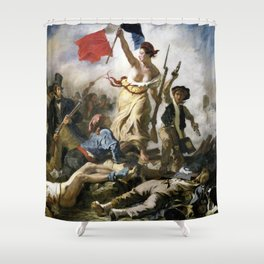 Lady Liberty of the French Revolution Shower Curtain