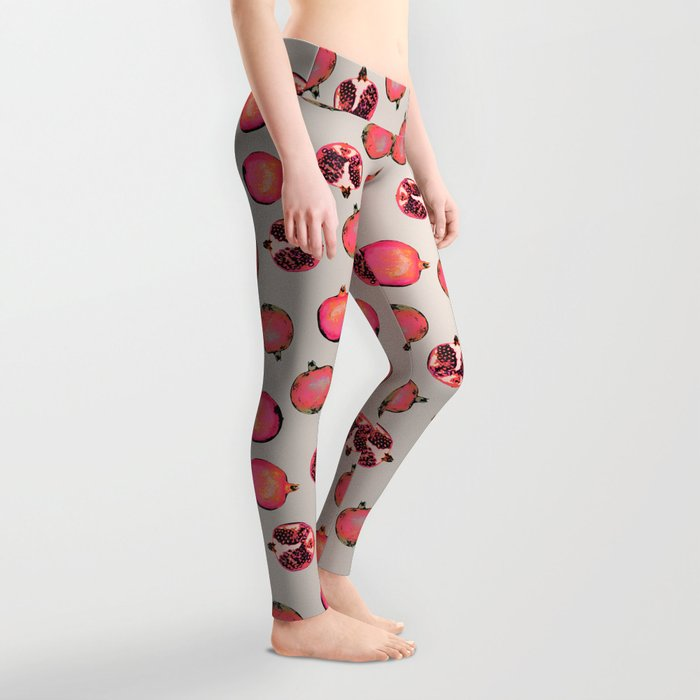 Pomegranate Pattern Leggings