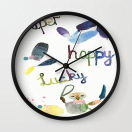 No. 635-G- Single Super Happy Lucky. Wall Clock