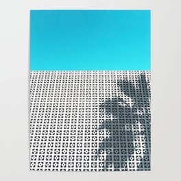 Parker Palm Springs with Palm Tree Shadow Poster