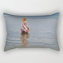Soft Eyed Beauty Rectangular Pillow