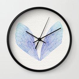 Periwinkle Ombré Cicada Wings Wall Clock