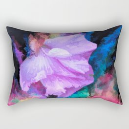 Floral Rainbow Rectangular Pillow