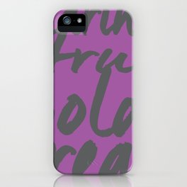 You! in Purple  iPhone Case