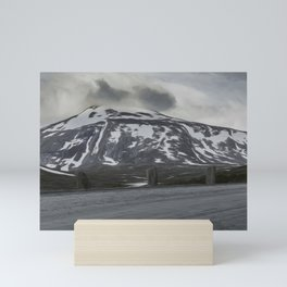 norwegian route and  mountains Mini Art Print