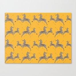 Royal Tenenbaums Zebra Wallpaper - Mustard Yellow Canvas Print