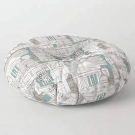 Washington DC toile juniper Floor Pillow