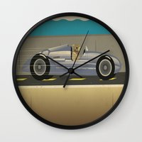scuba Wall Clocks featuring Scuba Driver by Chris Cooch
