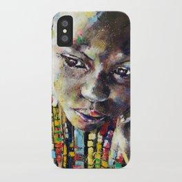 Reverie - Ethnic African portrait iPhone Case