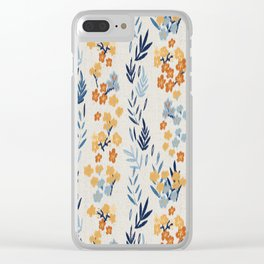 Oleander Floral Pattern Clear iPhone Case