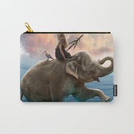 Elephant in the ocean Carry-All Pouch