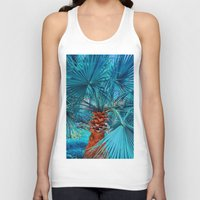 palm tree Tank Tops featuring Palm Tree by DistinctyDesign