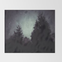 Beyond the Pines Throw Blanket
