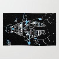 interstellar Area & Throw Rugs featuring Interstellar Travels by Sarah Crosby