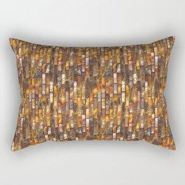 Gold Glass Tile Texture Rectangular Pillow