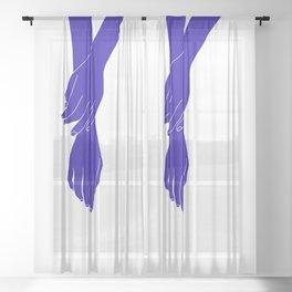 Colour block hands illustration - Effie Sheer Curtain