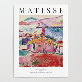View of Collioure - Henri Matisse - Exhibition Poster Poster