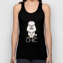 Chic Poodle Unisex Tank Top