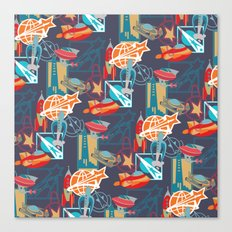 Spaceships and Badges Canvas Print
